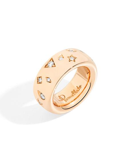 Pomellato Iconica Large 18K Rose Gold Diamond Ring, Size 53