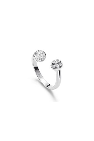 PIAGET Possession 18k White Gold Open Diamond Ring, Size 52