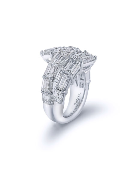 Image 3 of 3: JB Star Platinum Coiled Diamond Ring
