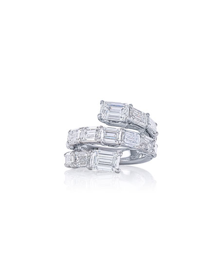 Image 1 of 3: JB Star Platinum Coiled Diamond Ring