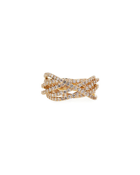 Image 1 of 3: Lana 14k Flawless Diamond Crossover Ring, Size 7