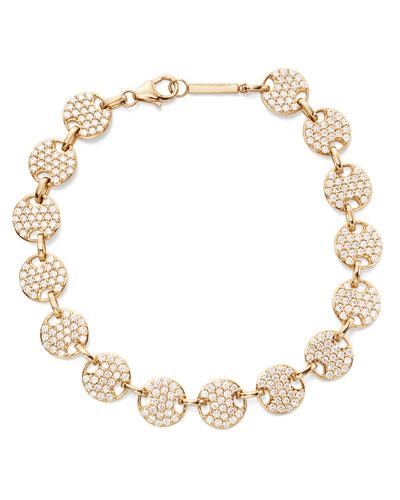 Flawless 14k Diamond Disc Bracelet
