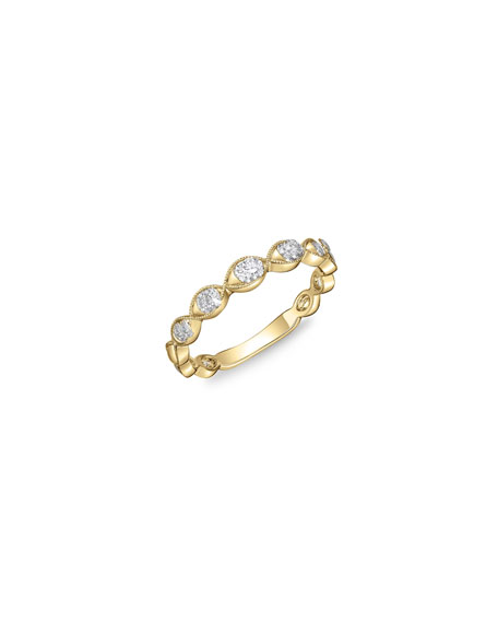 Memoire Stackables 18k Yellow Gold Diamond Marquise Ring