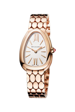 BVLGARI Serpenti Seduttori 33mm Watch w/ Bracelet, Gold