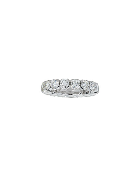 ZYDO 18k White Gold Diamond Eternity Ring, Size 6.75