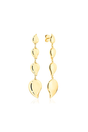 Tamara Comolli Signature Wave 18k Yellow Gold 4-Drop Earrings