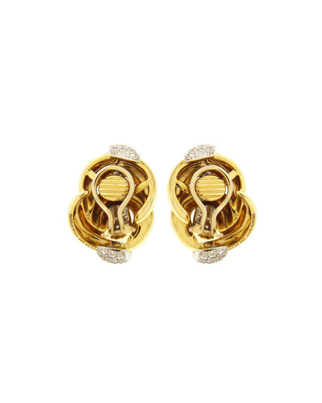 Valentin Magro Diamond Knot Clip-On Earrings
