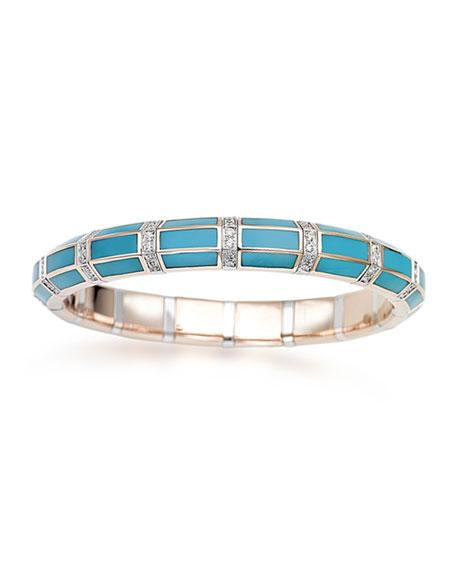 Picchiotti Xpandable 18k Rose Gold Turquoise and Diamond Bracelet