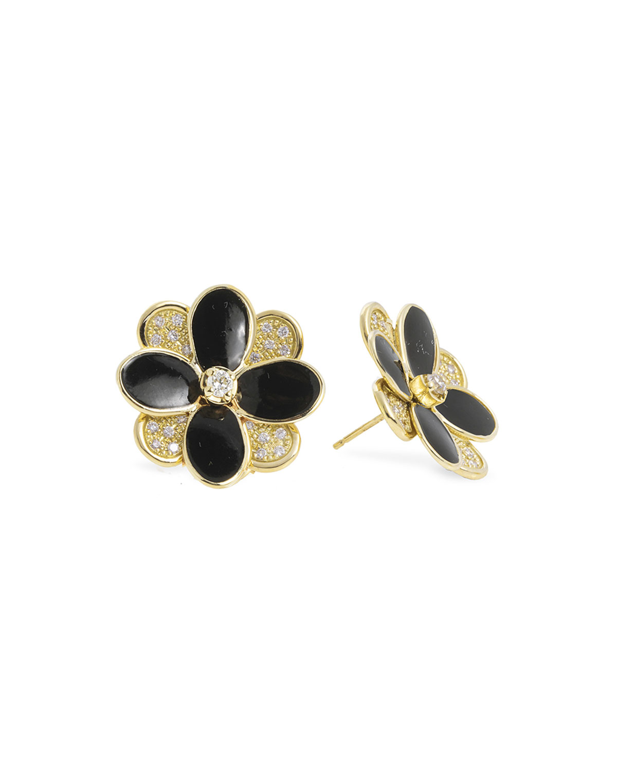 Marco Bicego Petali Enamel and Diamond Earrings