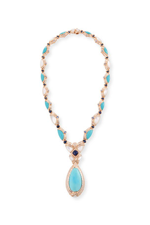 Nini Collection 18k Sleeping Beauty Turquoise Pendant Necklace