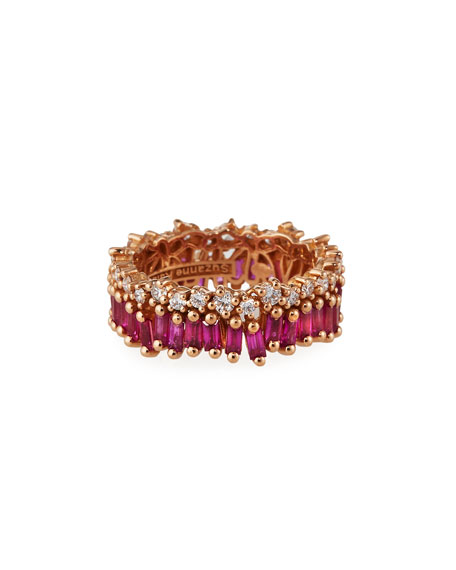 Image 1 of 4: Suzanne Kalan 18k Rose Gold Ruby Eternity Ring