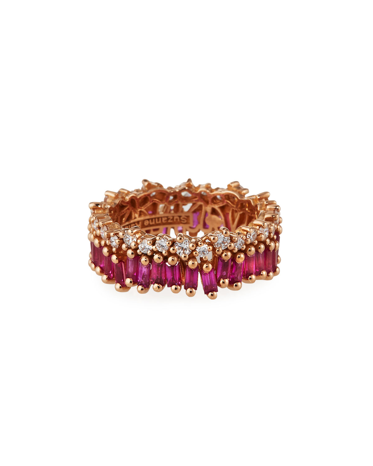 Suzanne Kalan 18k Rose Gold Ruby Eternity Ring