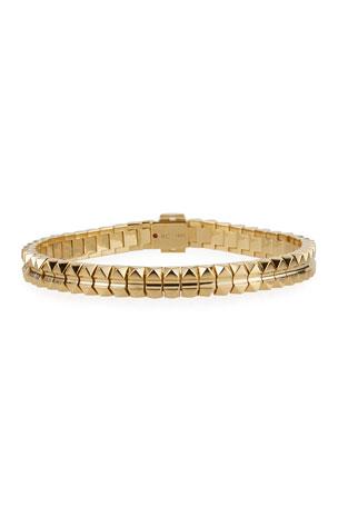 "Roberto Coin Rock and Diamonds 18k Yellow Gold Bracelet, 6.6"""