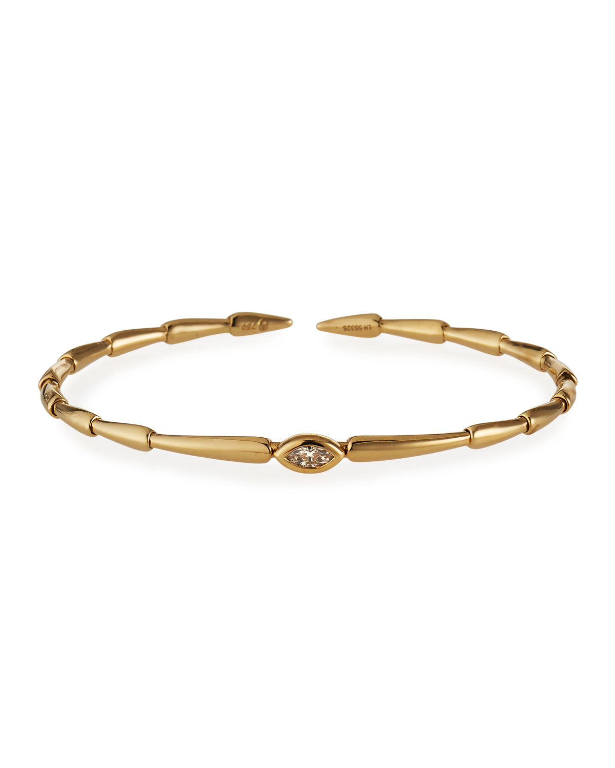Etho Maria 18k Yellow Gold Brown Diamond Marquise Bracelet