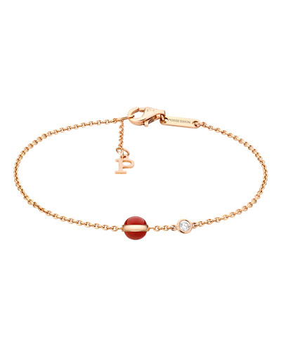 Possession Carnelian & Diamond Station Bracelet