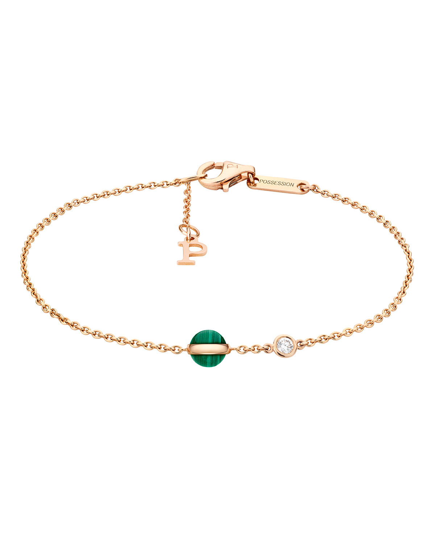 Piaget Possession Malachite Amp Diamond Station Bracelet