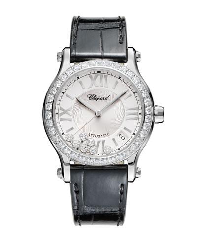 36 mm Happy Sport Watch with Diamonds