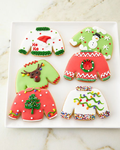 6 Christmas Party Sweater Cookies