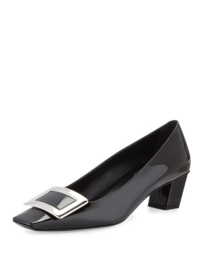 Belle Vivier Patent Buckle Pump