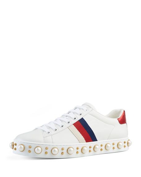 Gucci New Ace Sneaker, White