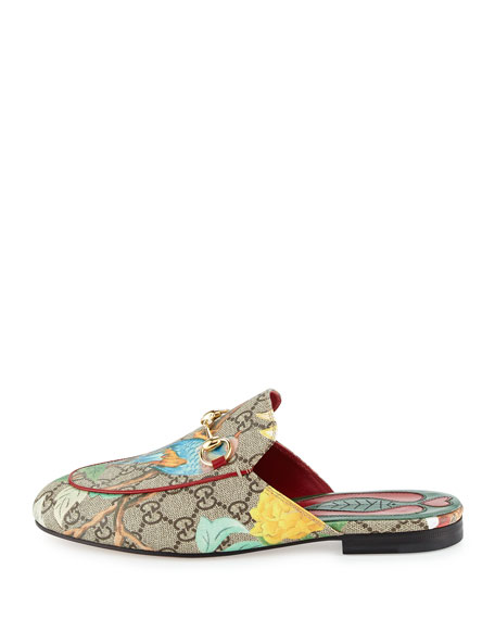 GG Canvas Horsebit Mule Slipper Flat, Multi