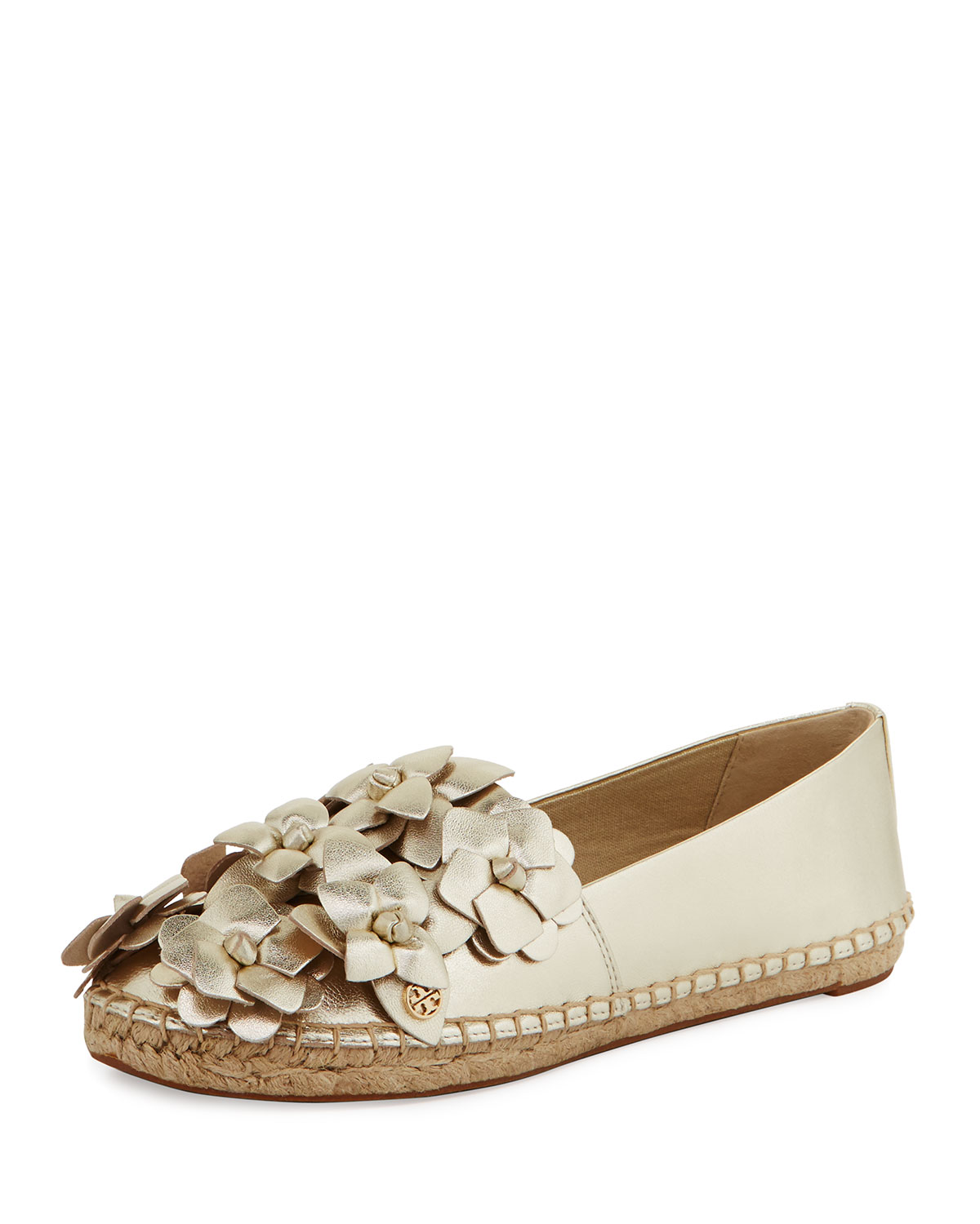 e66278053dbde1 Tory Burch Blossom Leather Espadrille Flat