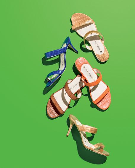Frida Crocodile Slide Sandal