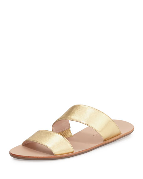 Loeffler Randall Clem Flat Leather Slide Sandal