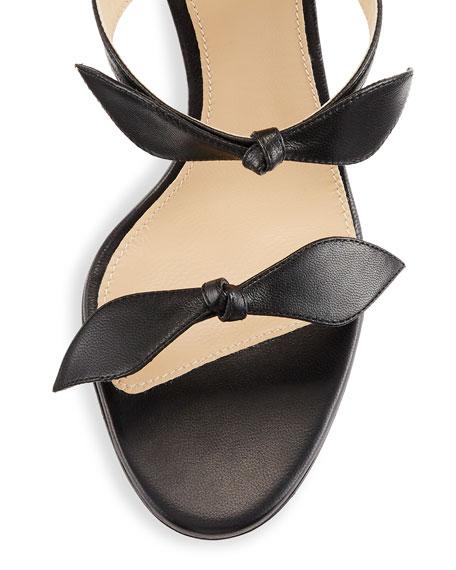 Naka Bow 100mm Sandal, Black