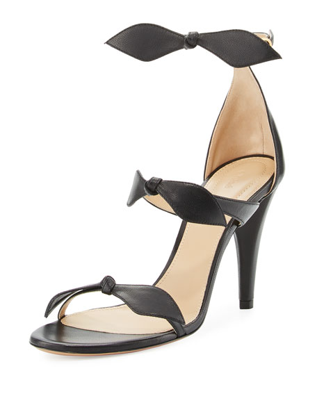 Chloe Naka Bow 100mm Sandal, Black