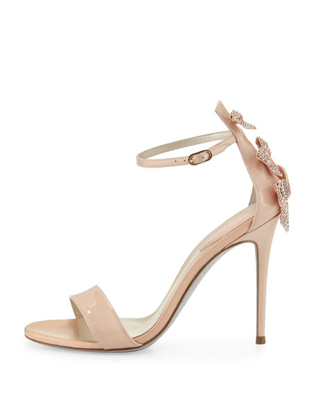 Crystal-Bow Patent 105mm Sandal, Neutral