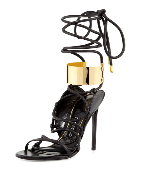 strappy heeled sandals - Black Tom Ford 7Y5QdUXm4D