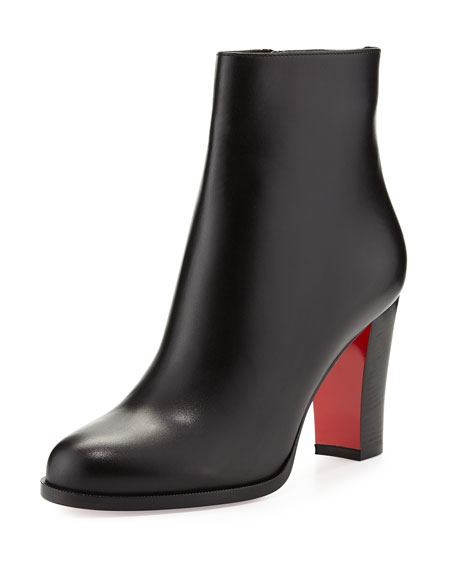 Christian Louboutin Adox Leather 85mm Red Sole Ankle