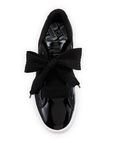 Basket Heart Patent Sneaker