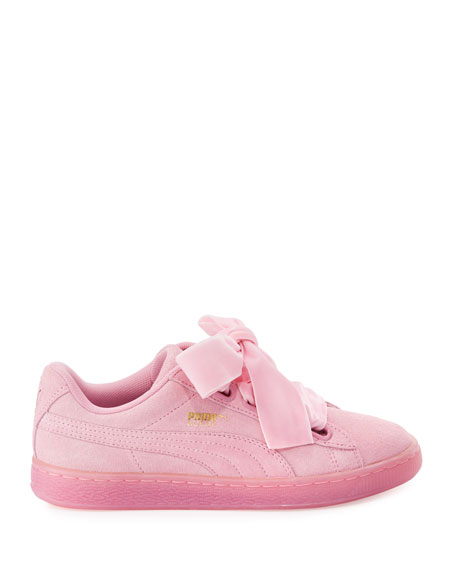 Suede Heart Reset Sneaker, Pink