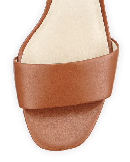 Kristen Open-Toe High-Heel Sandal, Luggage