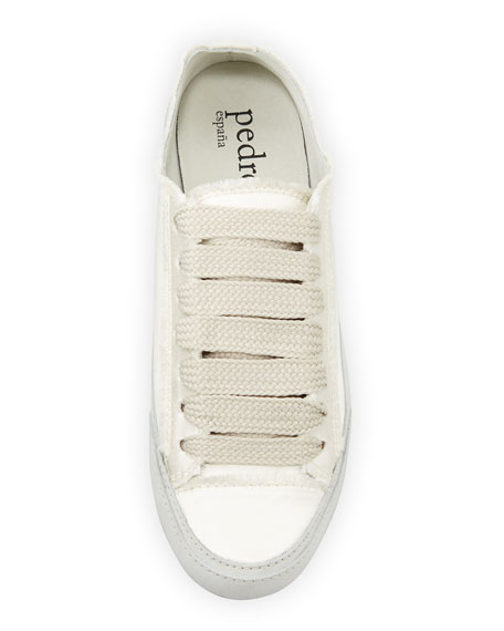 Parson Satin Low-Top Lace-Up Sneakers