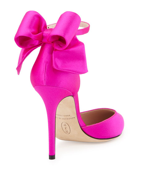 Trance Satin Bow Pump