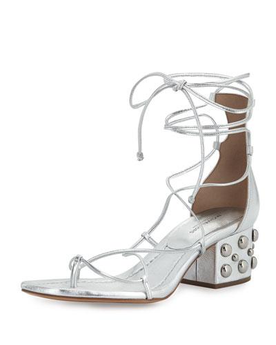 e860606e11d3 Michael Kors Ayers Leather Lace-Up Sandal