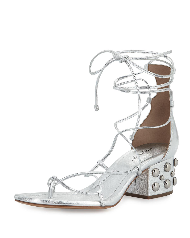 b12b7c74ab30 Michael Kors Ayers Leather Lace-Up Sandal