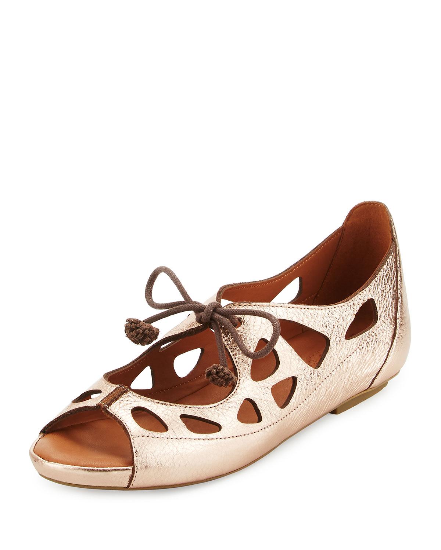 5819ffbd3f1 Brynn Leather Lace-Up Sandals, Pink