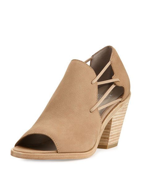 Eileen Fisher Nikki Stretch-Side Open-Toe Bootie