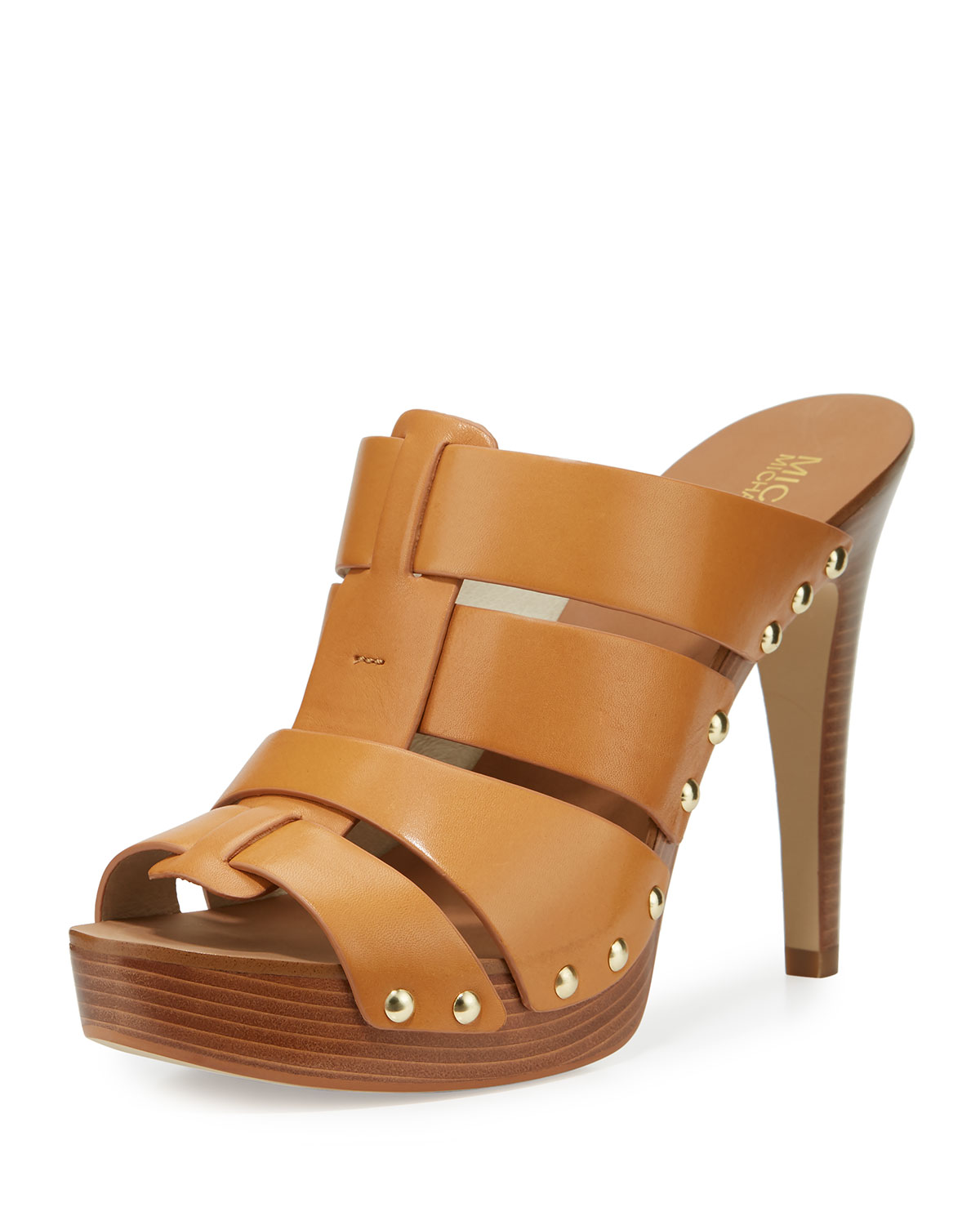 f2bf8891b880 MICHAEL Michael Kors Somerly Leather Mule Sandal