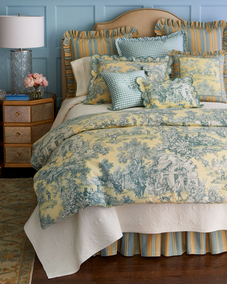 "Lutece Cypress Toile Pillow, 12"" x 16"""