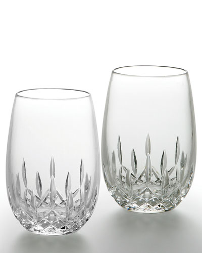 Lismore Nouveau Stemless Wine Glasses