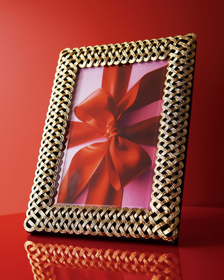 "L'Objet Gold Braid 8"" x 10"" Picture Frame"