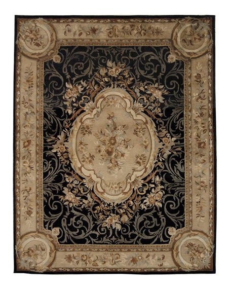 Aubusson Night Rug, 3' x 5'