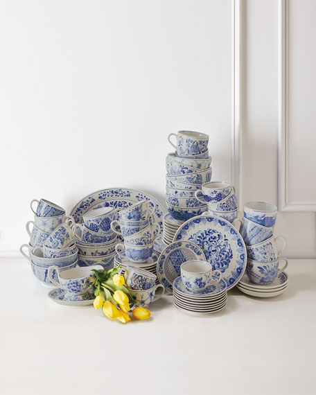 12 14-oz. Traditional Cups & Saucers