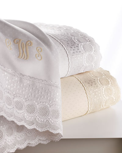SFERRA Marcus Collection Lace-Trimmed Sheet Sets