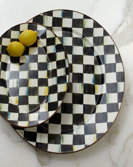 MacKenzie-Childs Small Courtly Check Oval Platter